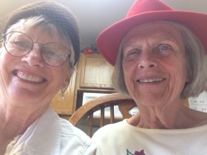 Pastor Kathleen with Geraldine at Florence Care Home.
